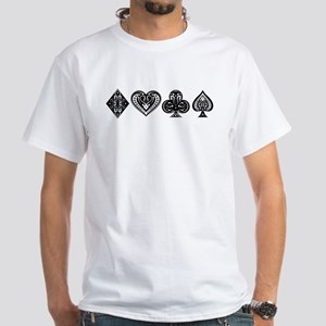 Card Symbols White T-Shirt