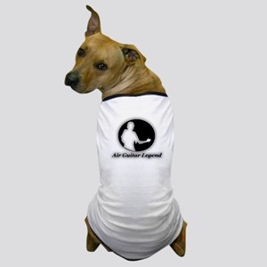 """Air Guitar Legend"" Dog T-Shirt"