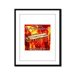 lava Framed Panel Print