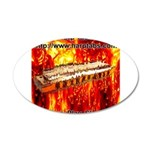 lava 35x21 Oval Wall Decal