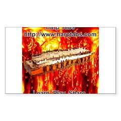 lava Sticker (Rectangle 50 pk)