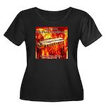 lava Women's Plus Size Scoop Neck Dark T-Shirt