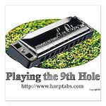harmonica1 Square Car Magnet 3