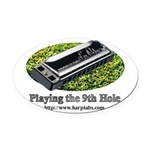 harmonica1 Oval Car Magnet