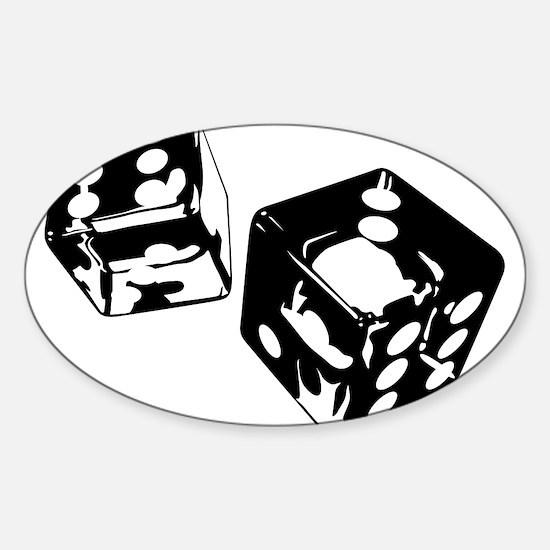 Dice Sticker (Oval)