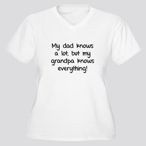 My dad knows a lot Women's Plus Size V-Neck T-Shir