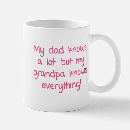 My dad knows a lot Mug