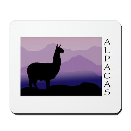 alpaca purple mountains Mousepad
