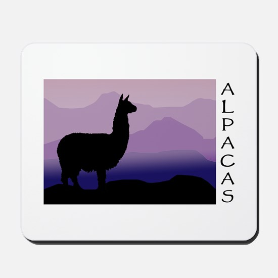 alpaca purple mountains Mousepad