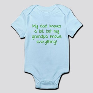 My dad knows a lot Infant Bodysuit