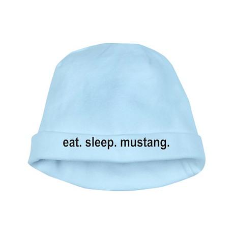 eat sleep mustang copy baby hat