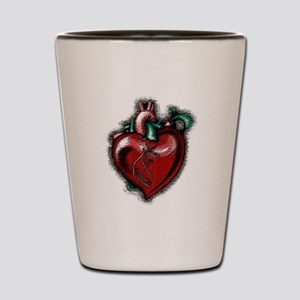 Apple Heart Shot Glass