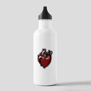 Apple Heart Stainless Water Bottle 1.0L