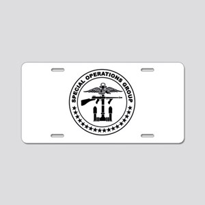 SOG - SAD B-W Aluminum License Plate