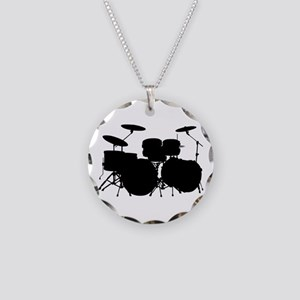 Drums Necklace Circle Charm
