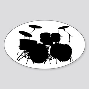 Drums Sticker (Oval)