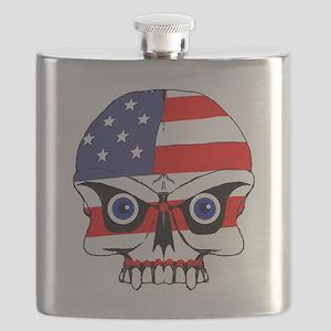 Freedom skull Flask