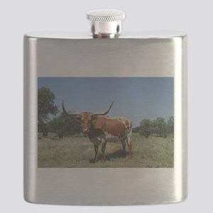 Longhorn cow Flask