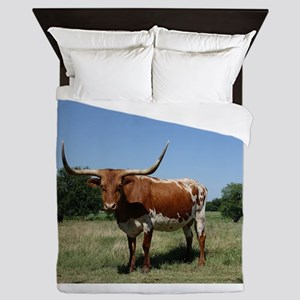 Longhorn cow Queen Duvet