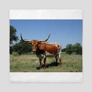 Longhorn cow Queen Duvet