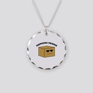 Suspicous Package Necklace Circle Charm