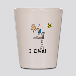 Boy I Dive Shot Glass
