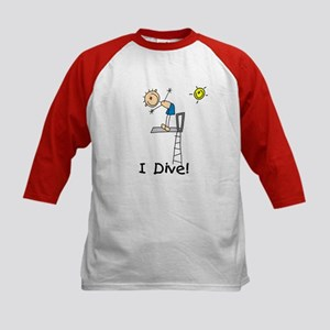 Boy I Dive Kids Baseball Jersey