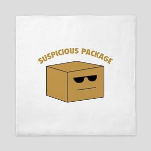 Suspicous Package Queen Duvet