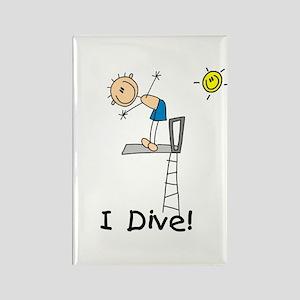 Boy I Dive Rectangle Magnet