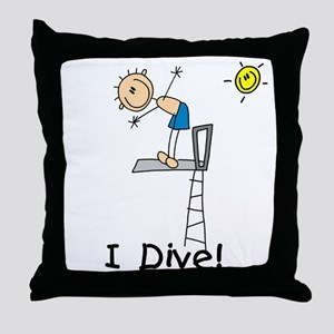 Boy I Dive Throw Pillow