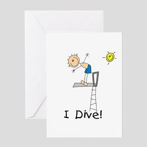 Boy I Dive Greeting Card