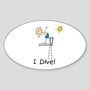 Boy I Dive Sticker (Oval)