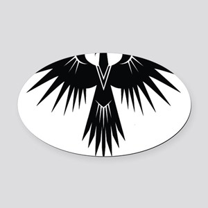 Bird of Prey Oval Car Magnet