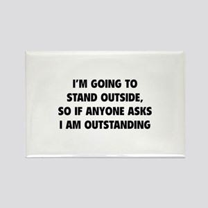 I Am Outstanding Rectangle Magnet