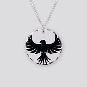 Bird of Prey Necklace Circle Charm