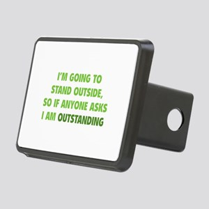 I Am Outstanding Rectangular Hitch Cover