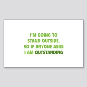 I Am Outstanding Sticker (Rectangle)