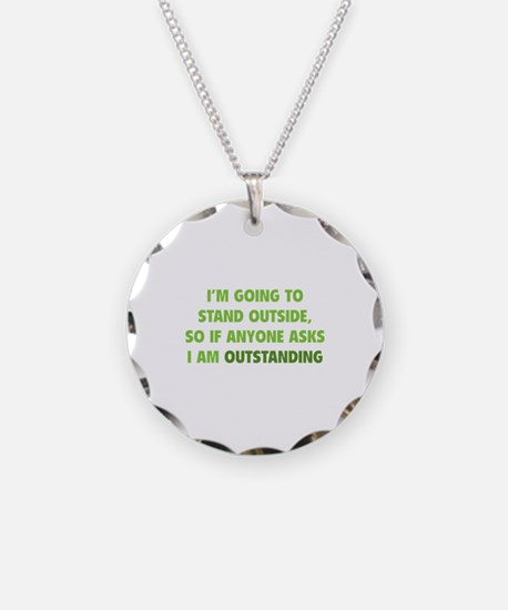 I Am Outstanding Necklace Circle Charm