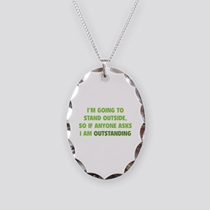 I Am Outstanding Necklace Oval Charm