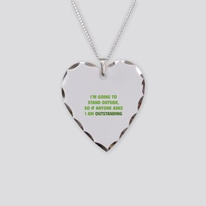 I Am Outstanding Necklace Heart Charm