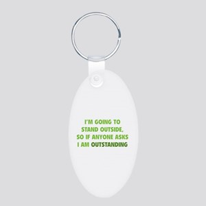 I Am Outstanding Aluminum Oval Keychain