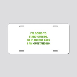 I Am Outstanding Aluminum License Plate