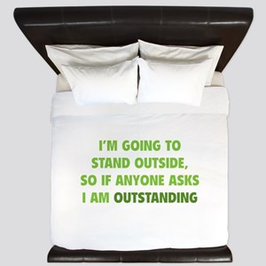 I Am Outstanding King Duvet
