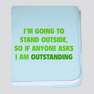 I Am Outstanding baby blanket