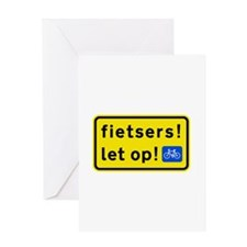 fietsers Greeting Card
