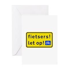 fietsers Greeting Card