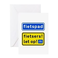 fietspadFietsers Greeting Card