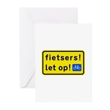 fietsers Greeting Cards (Pk of 10)