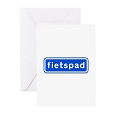 fietspad Greeting Cards (Pk of 10)
