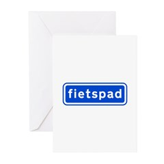 fietspad Greeting Cards (Pk of 10)